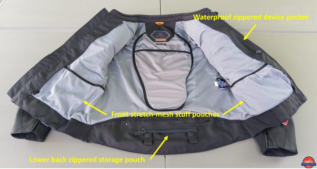 REAX Aprx Pro Mesh Jacket inside pockets and liner