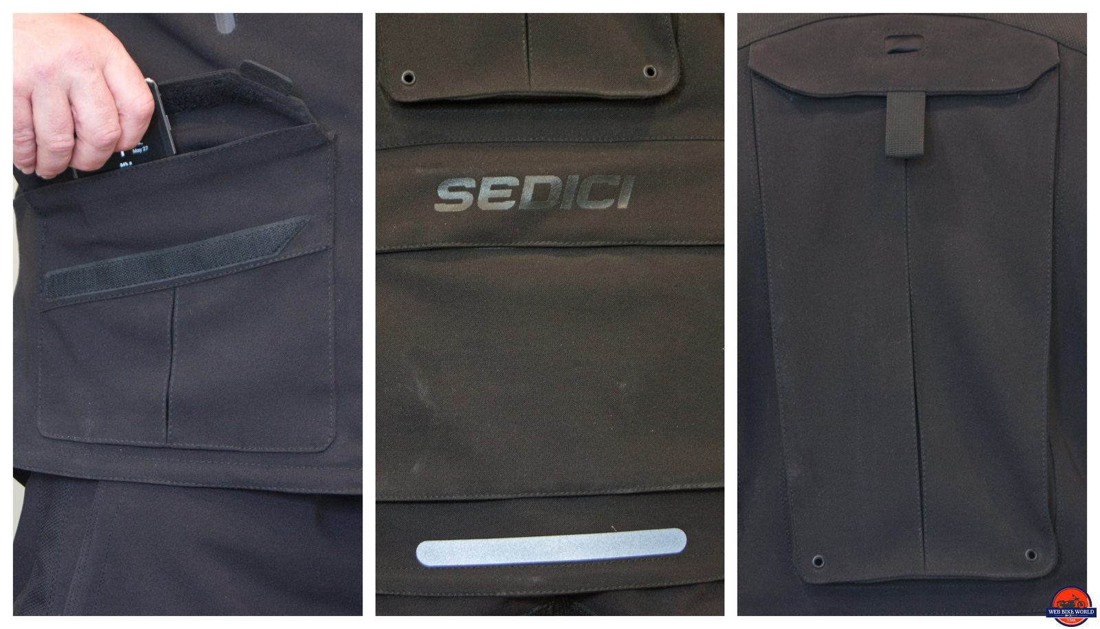 sedici garda exterior pockets