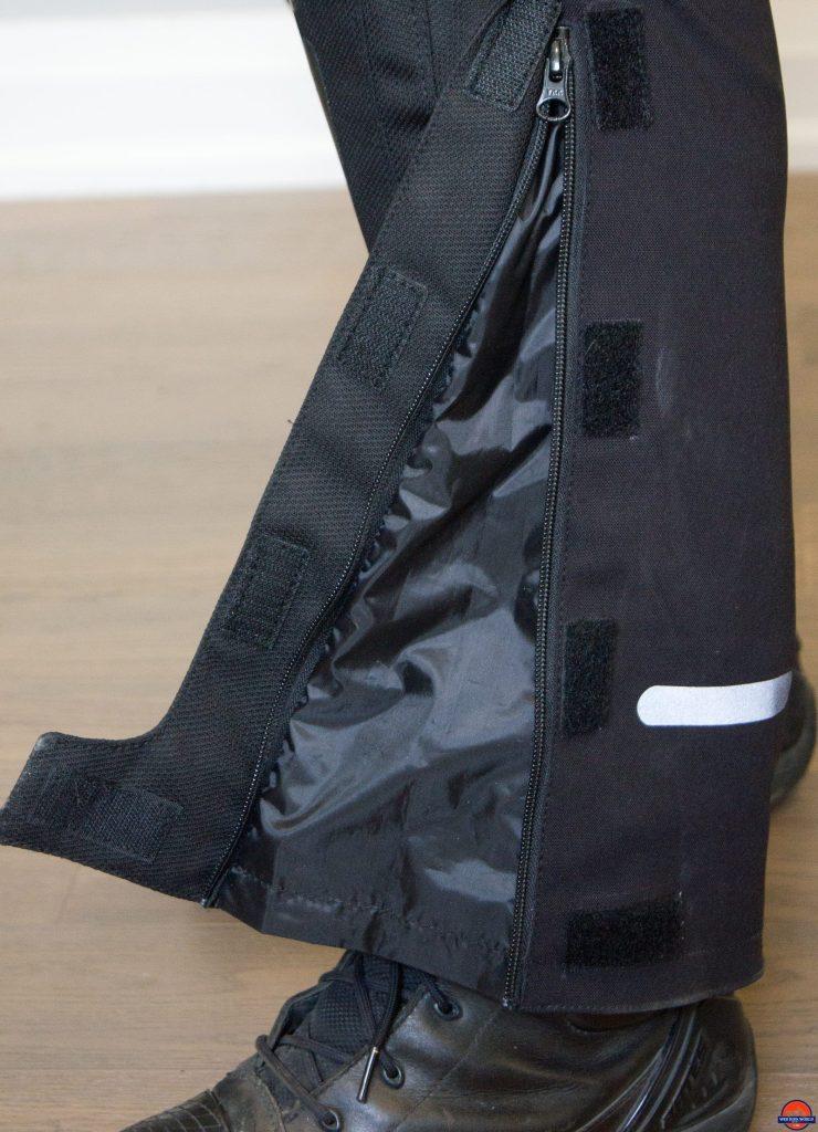sedici garda pants velcro flap