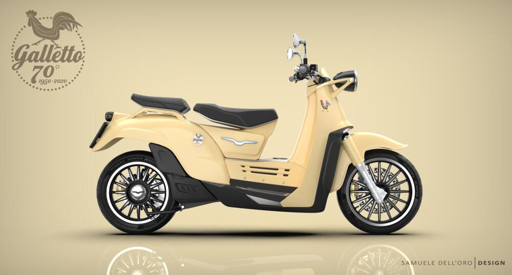 Moto Guzzi Galletto hybrid scooter