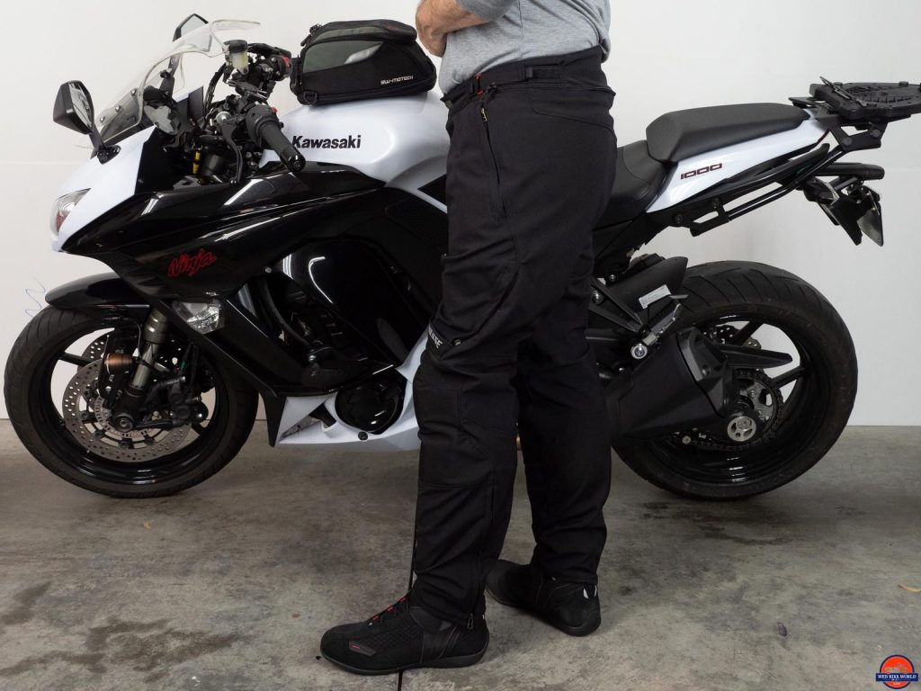 Side view of the New Drake Air textile pants