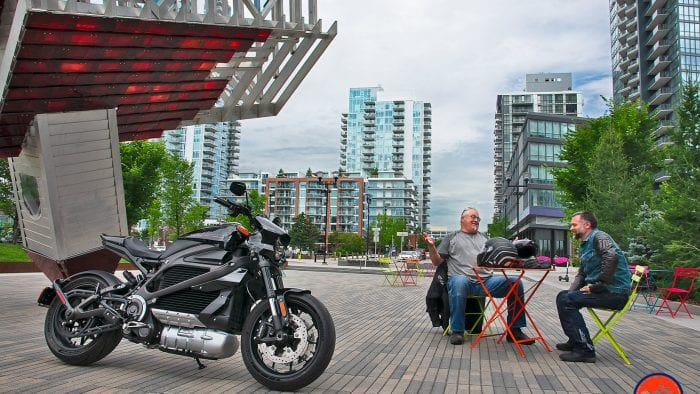 Photographing the Harley Davidson Livewire.
