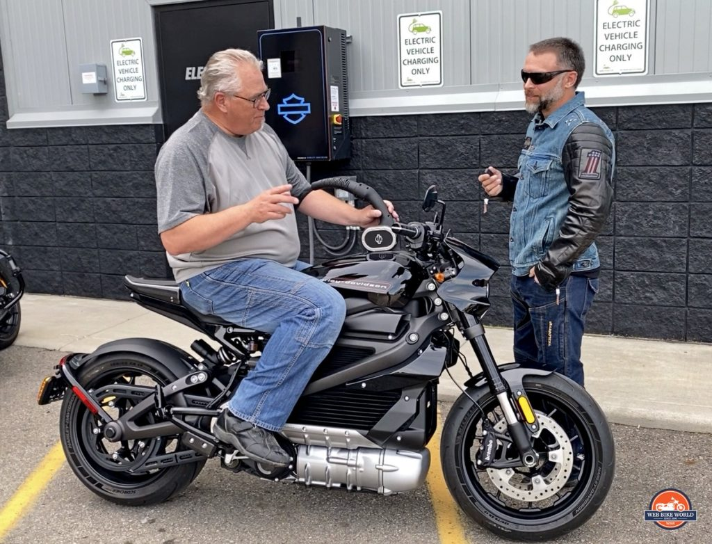 Me and Greg with the Harley Davidson LiveWire.