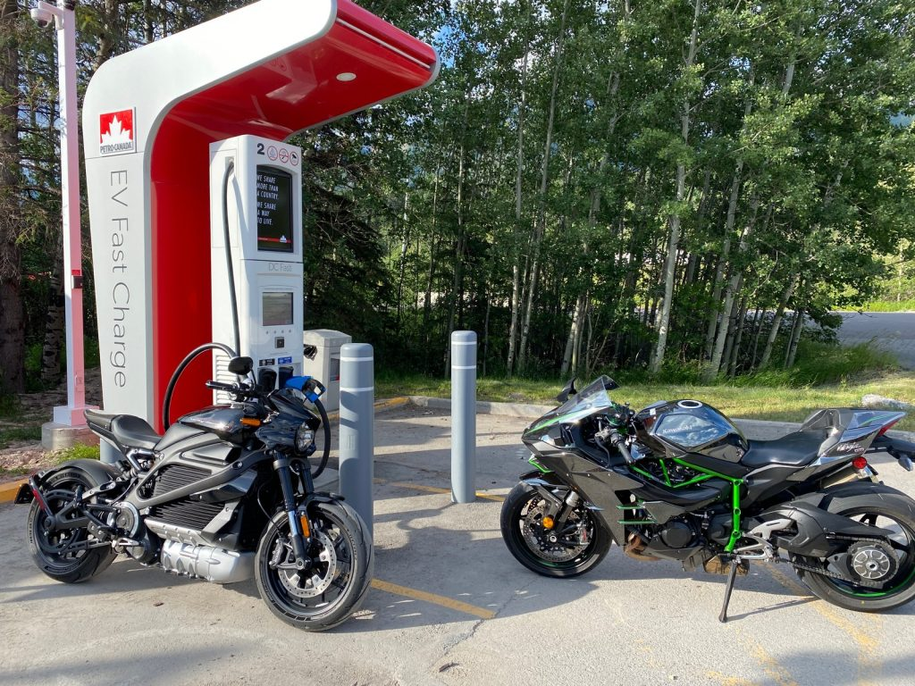The Harley LiveWire and Kawasaki H2.