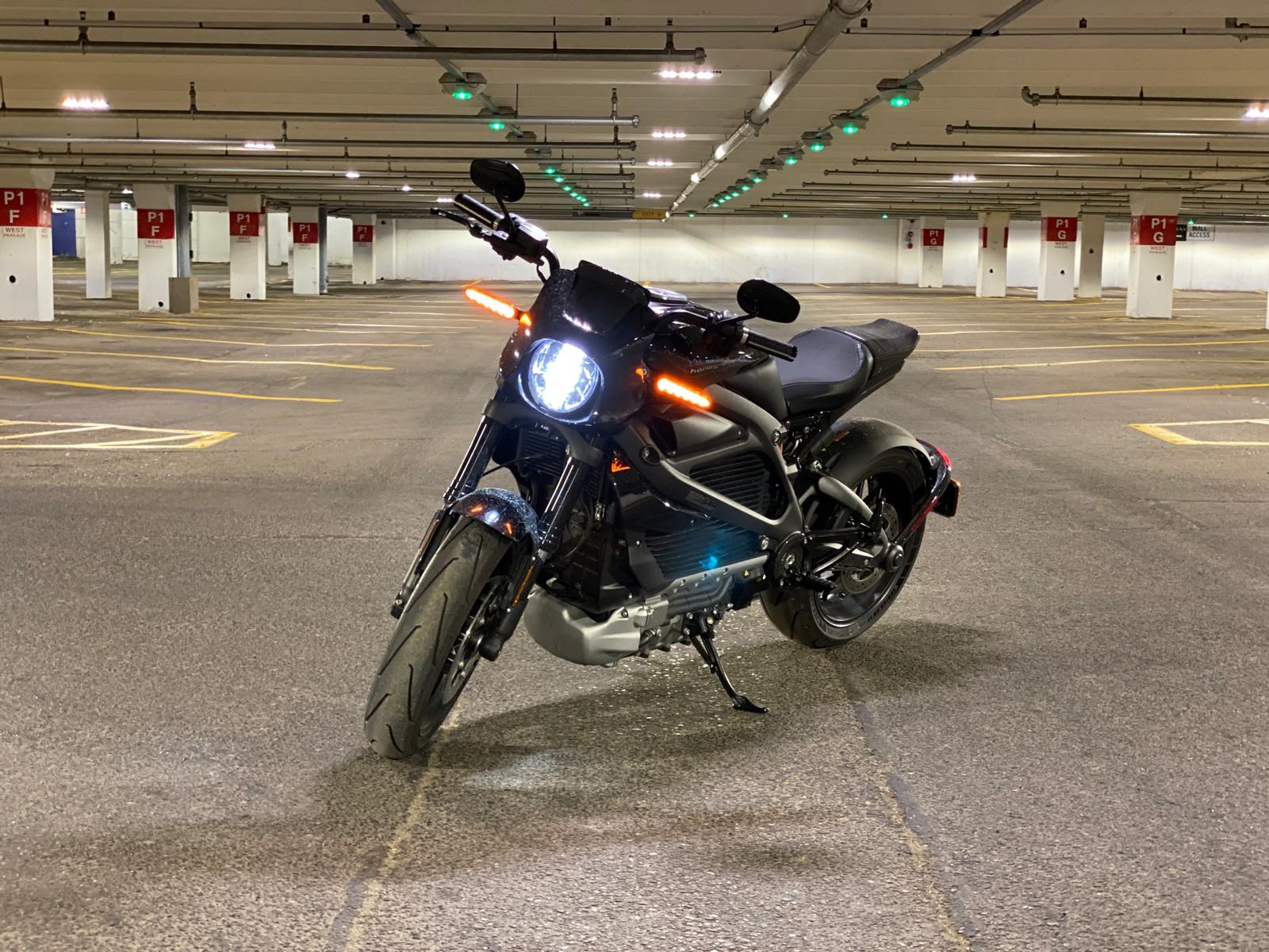 The Harley Davidson LiveWire LED headlight & turn signals