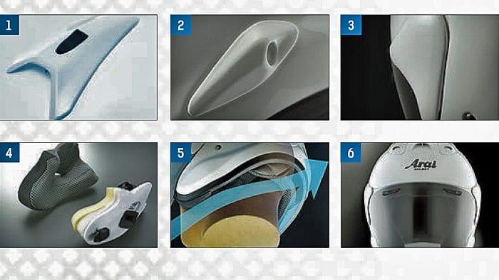 6 features of Arai XC helmet