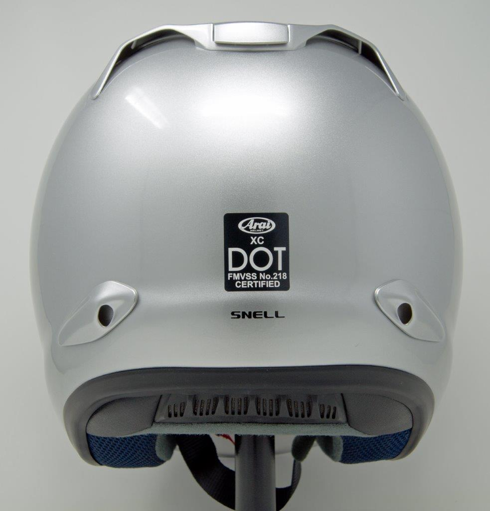 Back view of Arai XC helmet