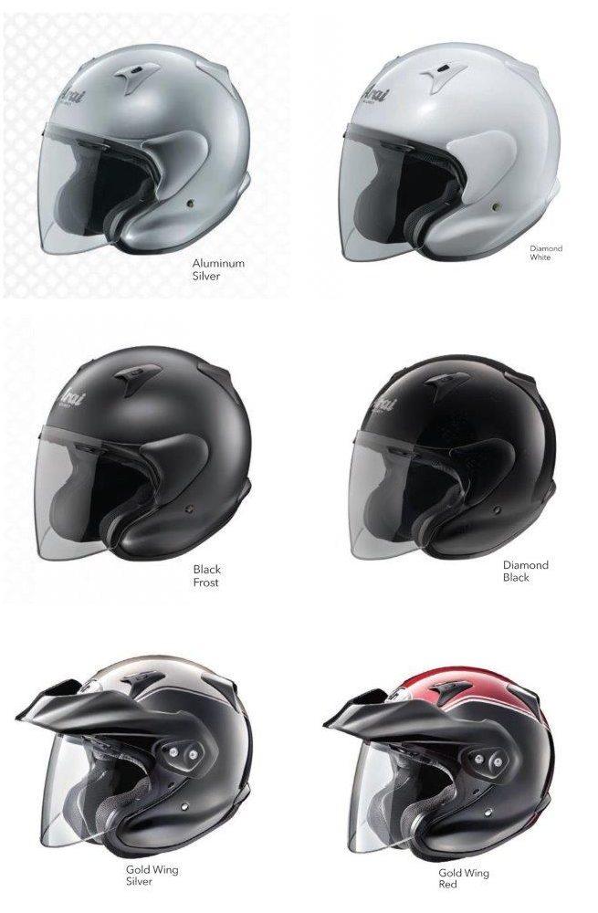 Various colour selections for Arai XC helmet