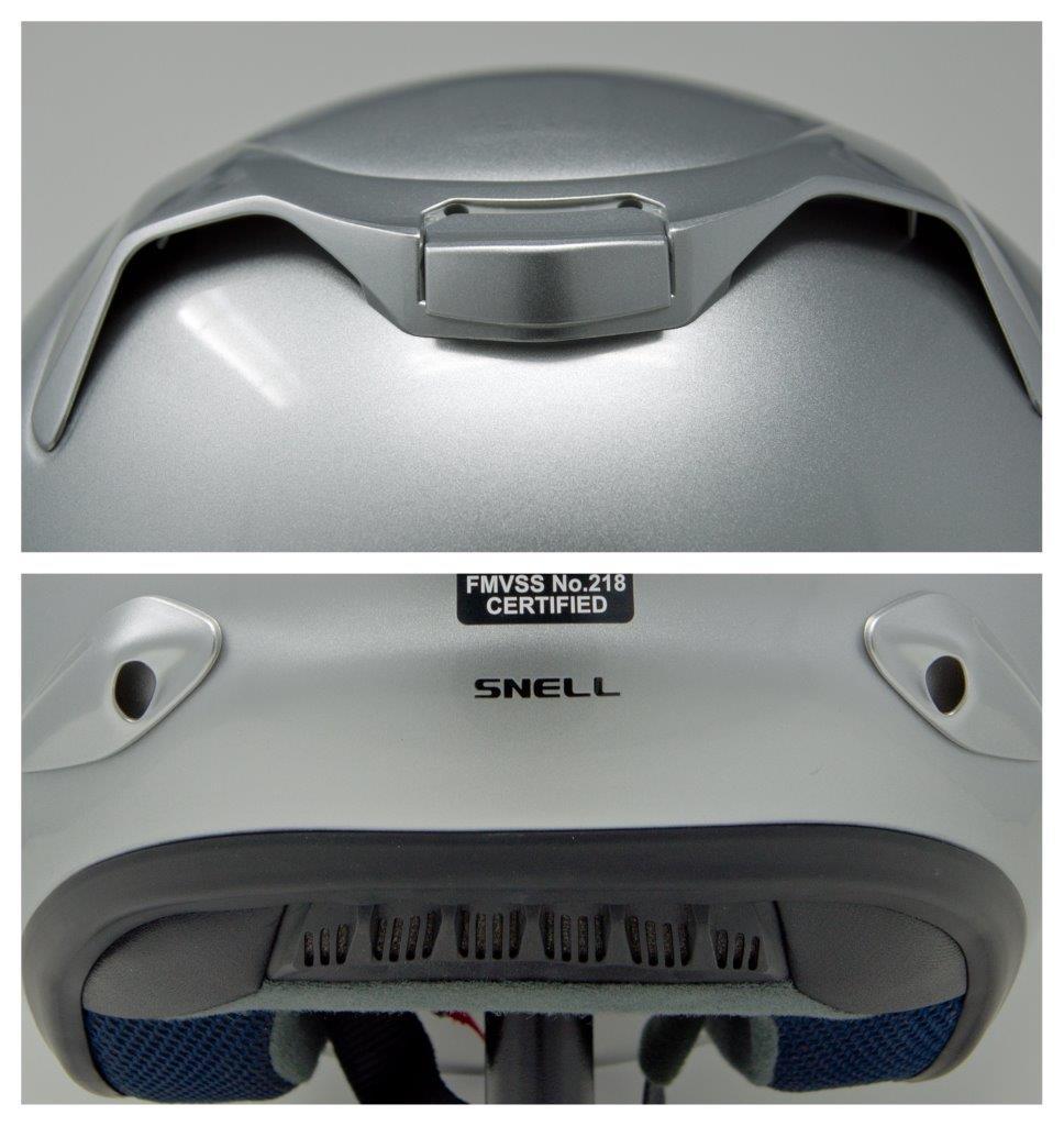 Exhaust vents on Arai XC helmet