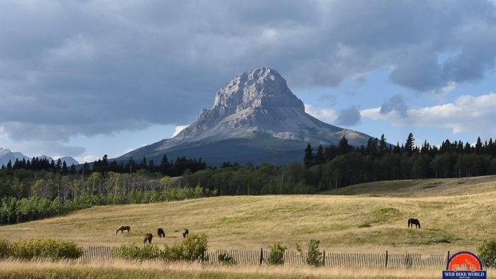 Fortress Mountain in southern Alberta.