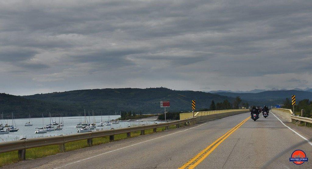 Grey sky at Ghost Lake Reservoir.