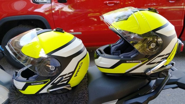 schuberth helmet with sena 50s & sena 50r