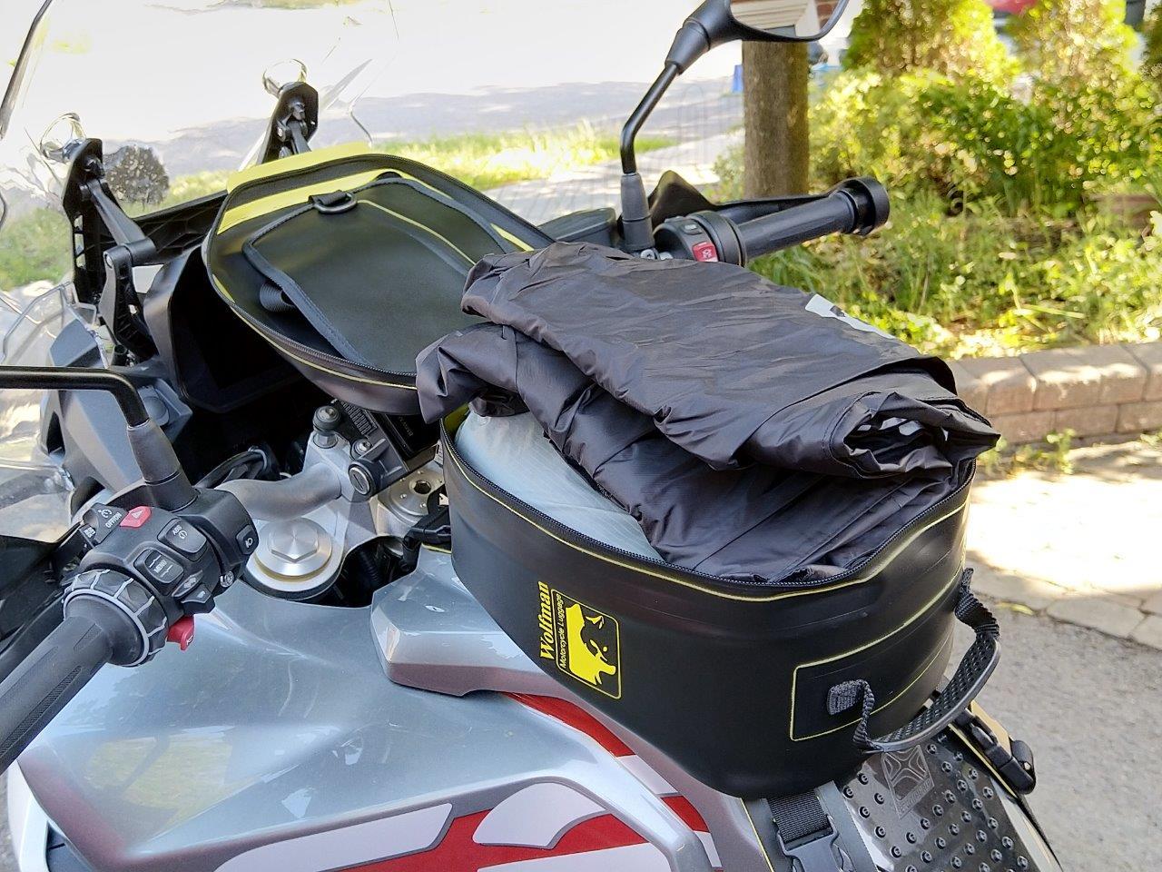 Unzipped Wolfman Blackhawk Motorcycle Tank Bag WP.