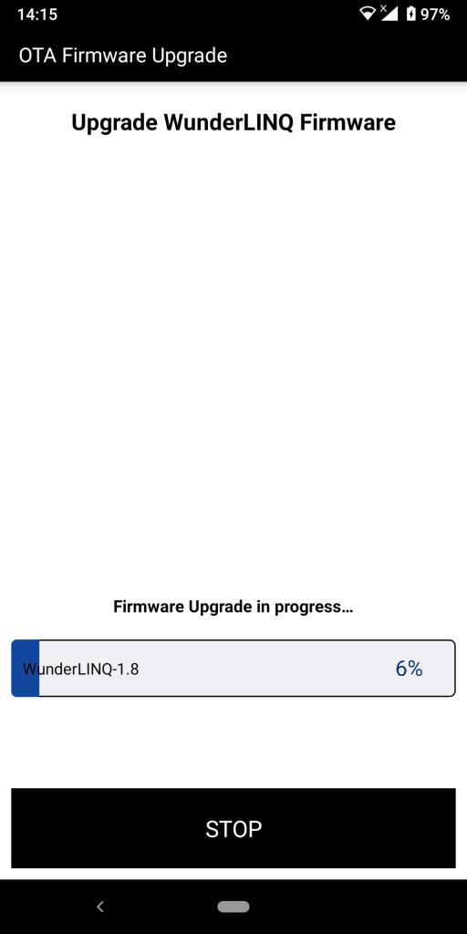 WunderLINQ firmware update process