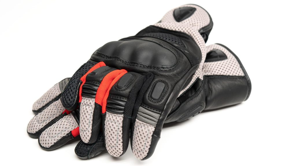 black and red Dirt 3 gloves