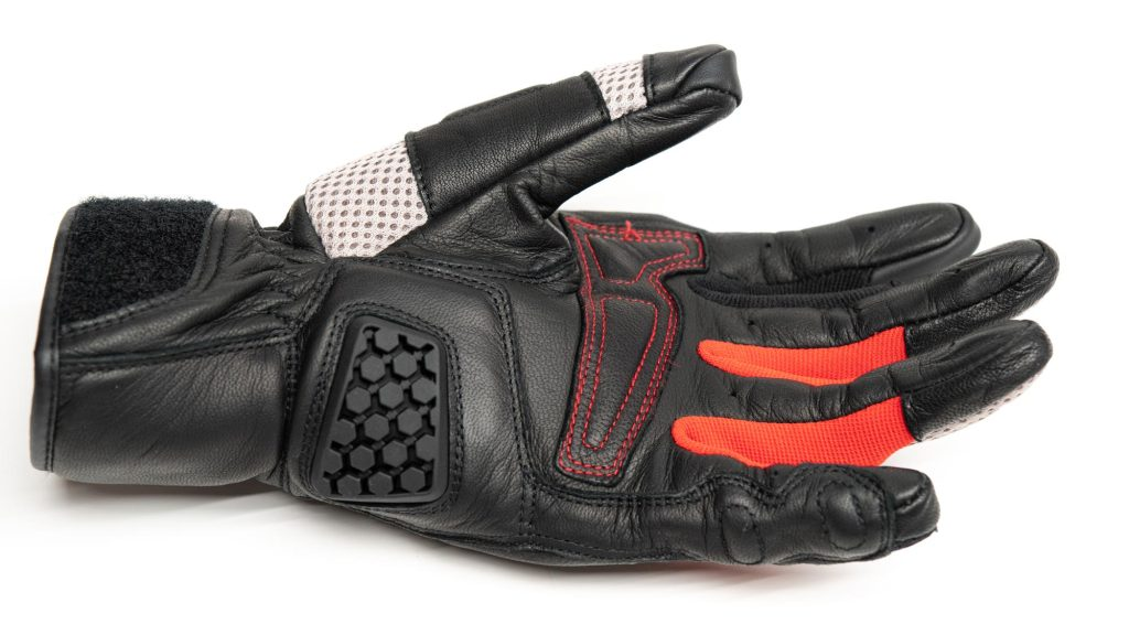 red and black color dirt 3 glove