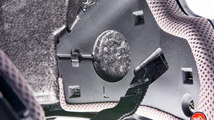 Speaker pockets inside the Touratech Aventuro Traveller Carbon