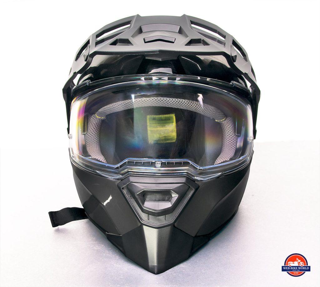The eyeport on the Touratech Aventuro Traveller Carbon.