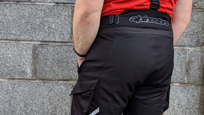 nevin power wearing alpinestars andes II motorcycle pants