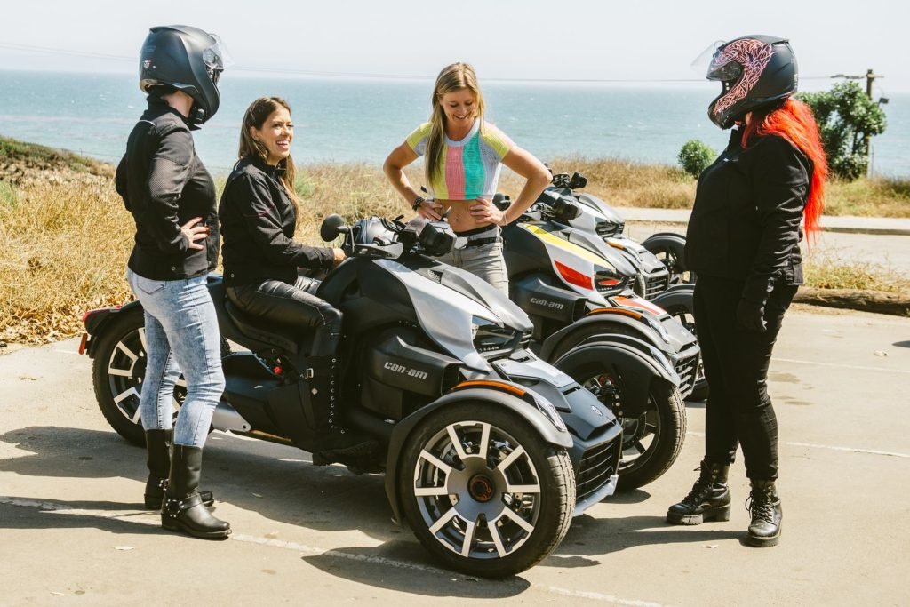 women riders talking about the can-am spyder