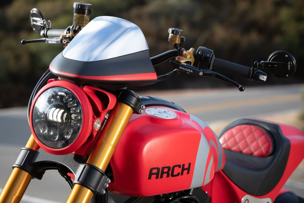Closeup of red ARCH KRGT-1
