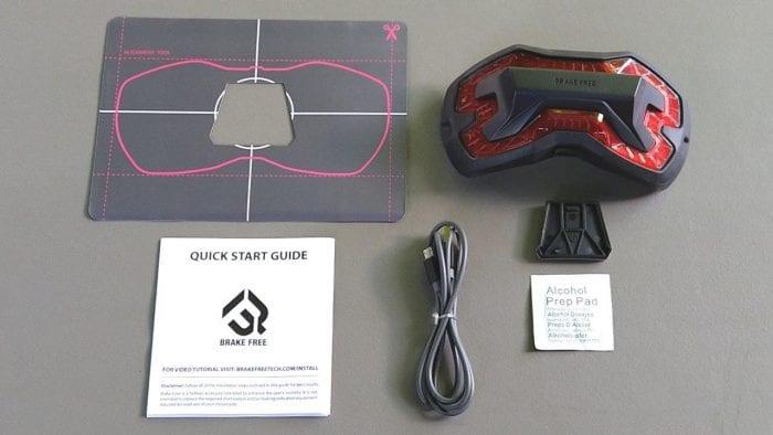 Brake Free Wireless Helmet Light box contents