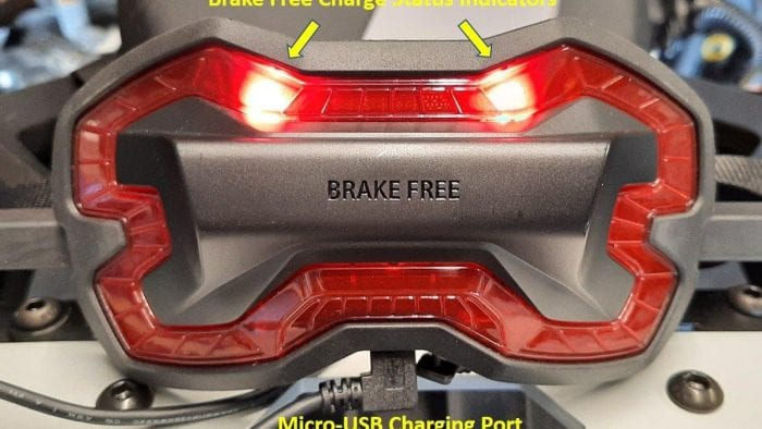 Brake Free Wireless Helmet Light charging indicators