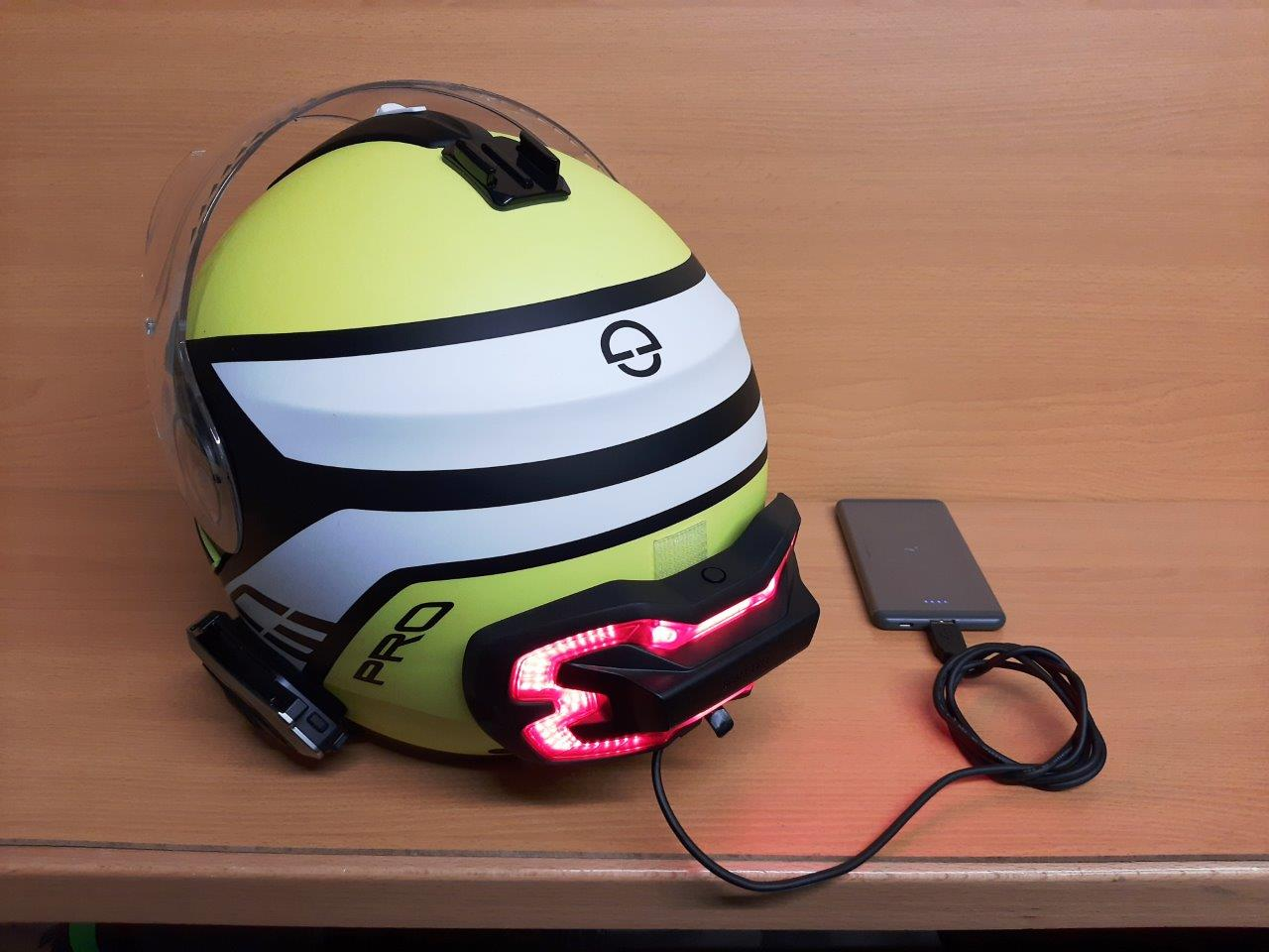 Brake Free Wireless Helmet Light connected to smartphone