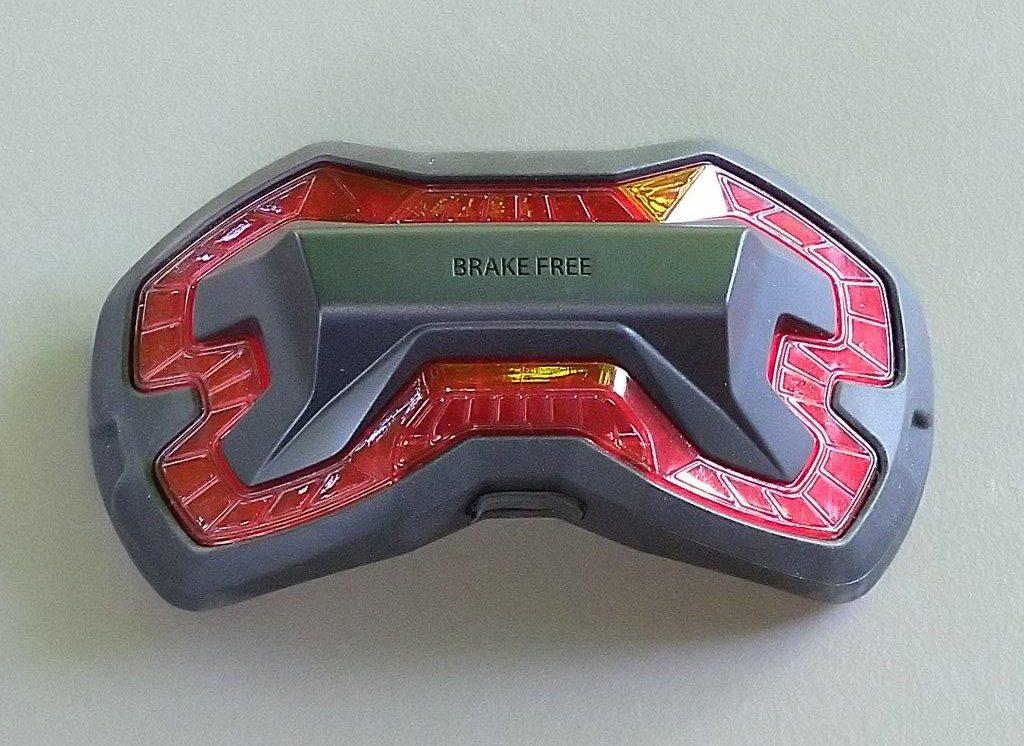 Front view of Brake Free Wireless Helmet Light