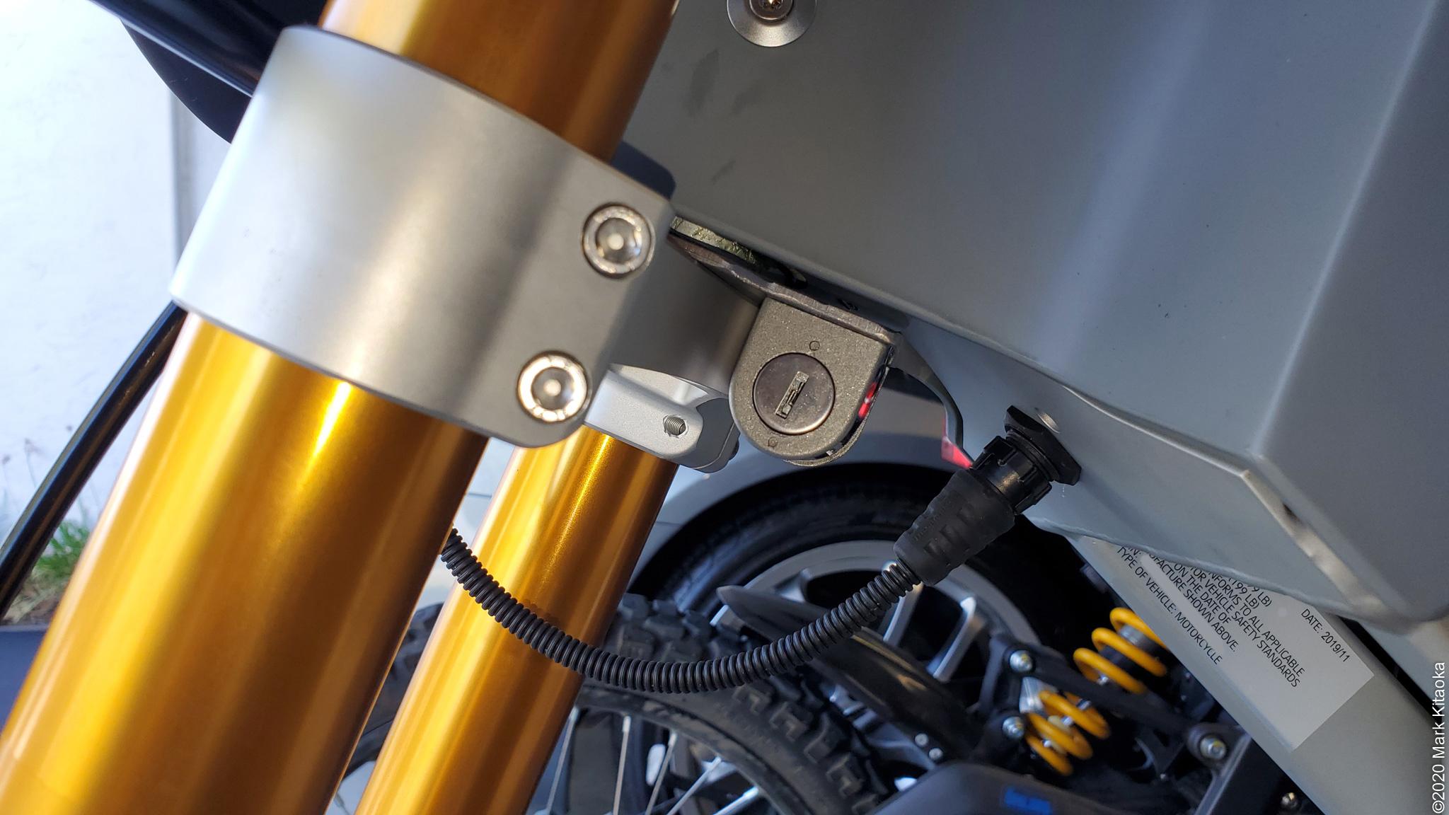 Kalk motorcycle steering lock