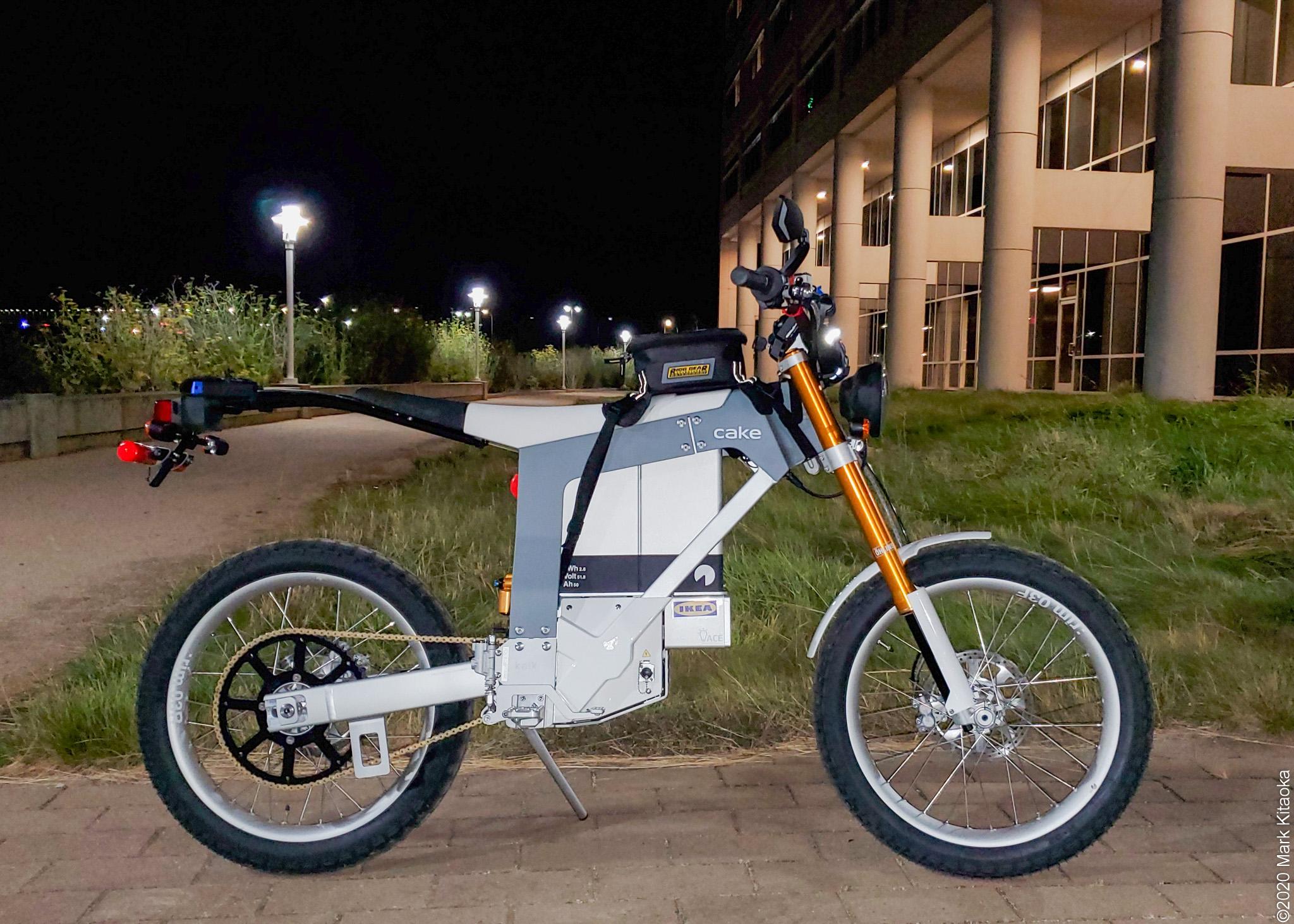 Kalk motorcycle at night