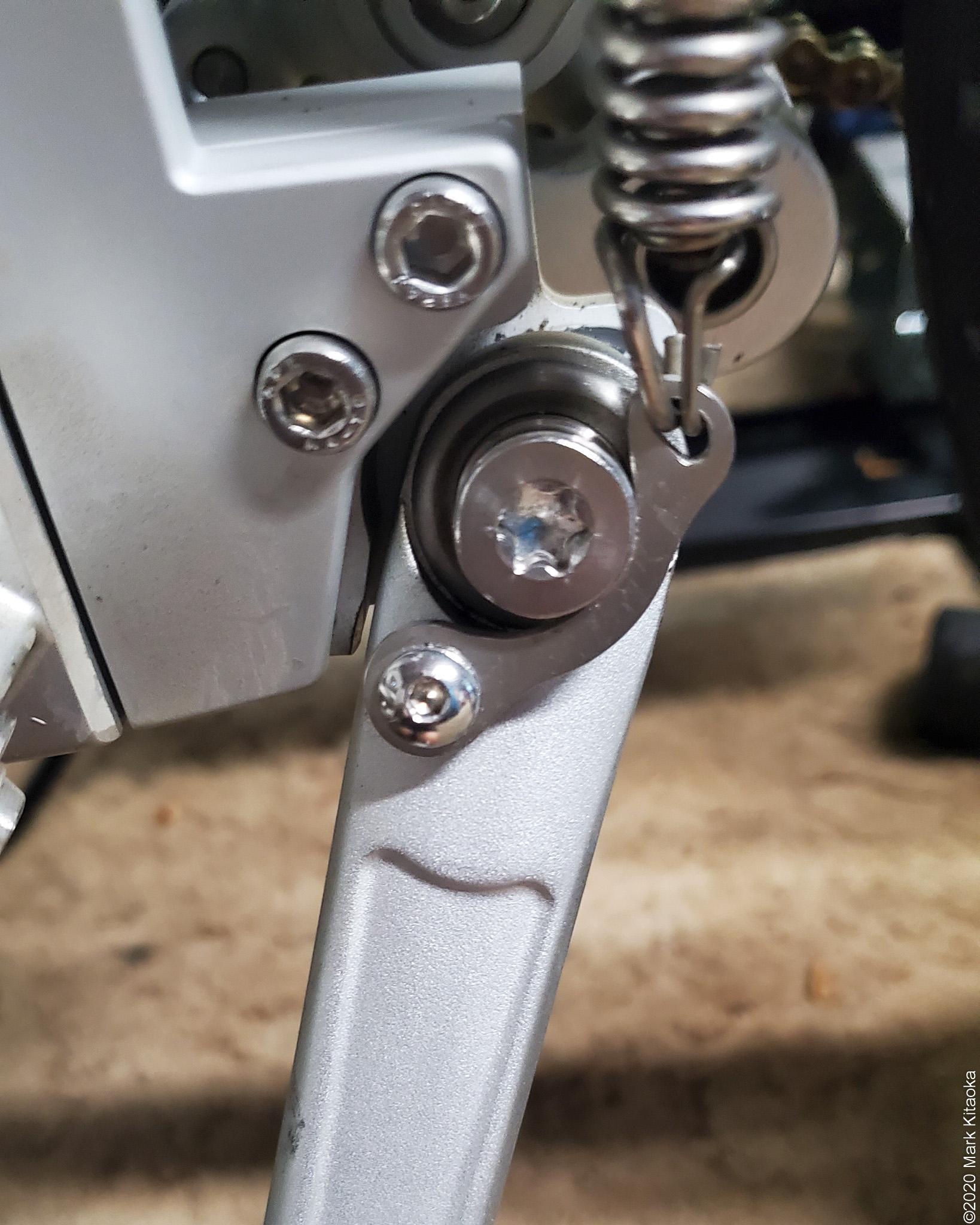 Kalk bike kickstand bracket