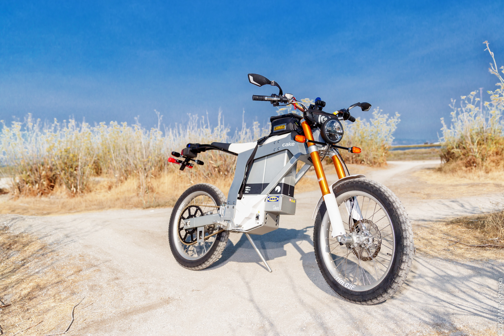 Kalk motorcycle on off road path