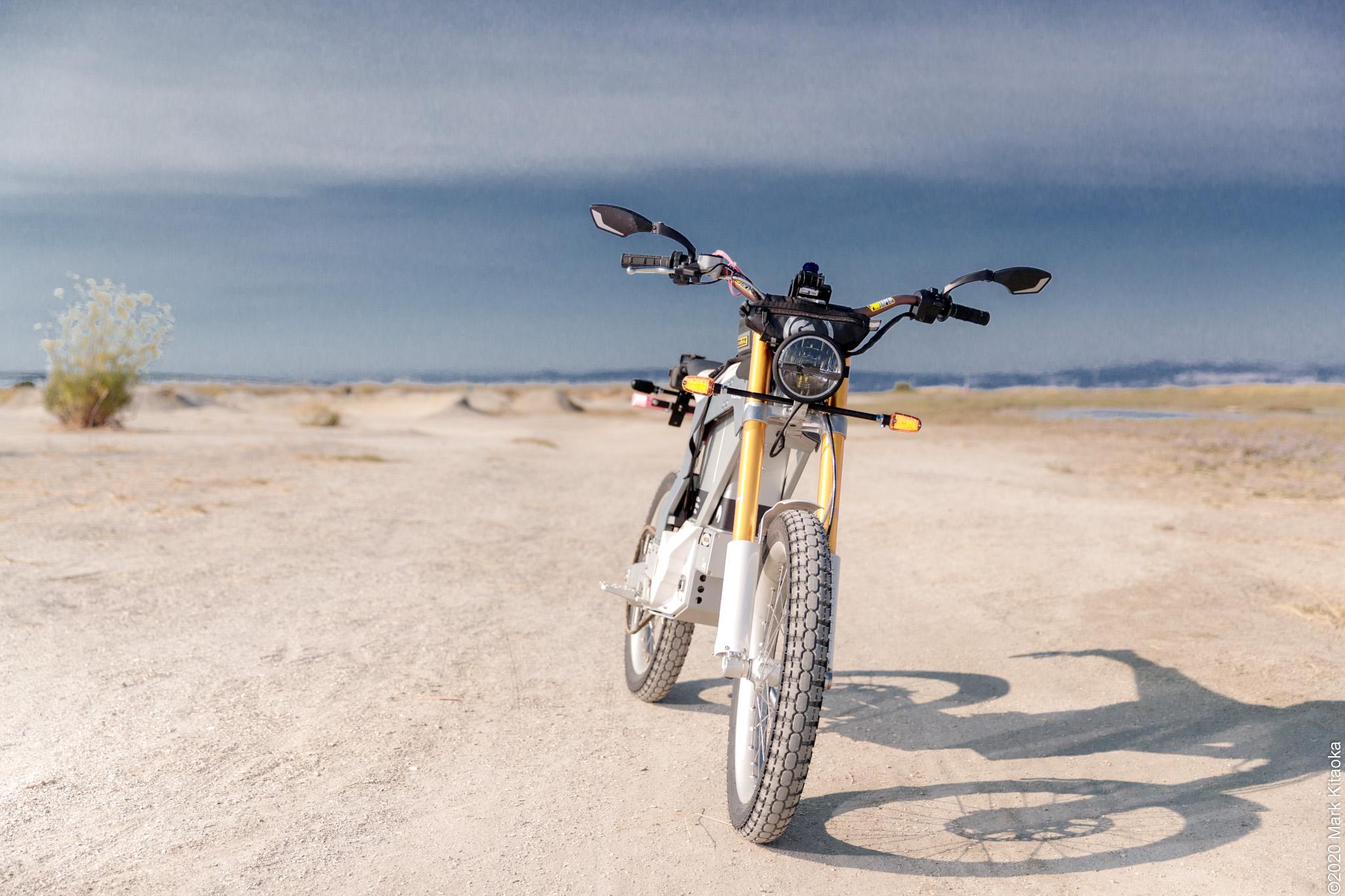 Kalk motorcycle on off road beach