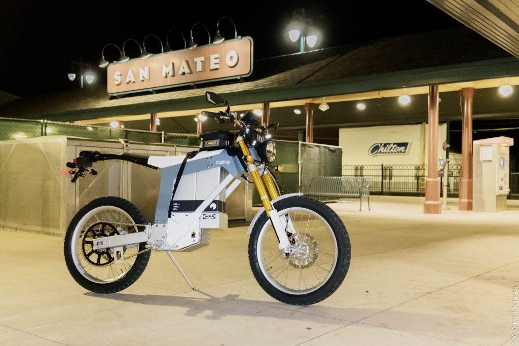 Kalk motorcycle on pavement