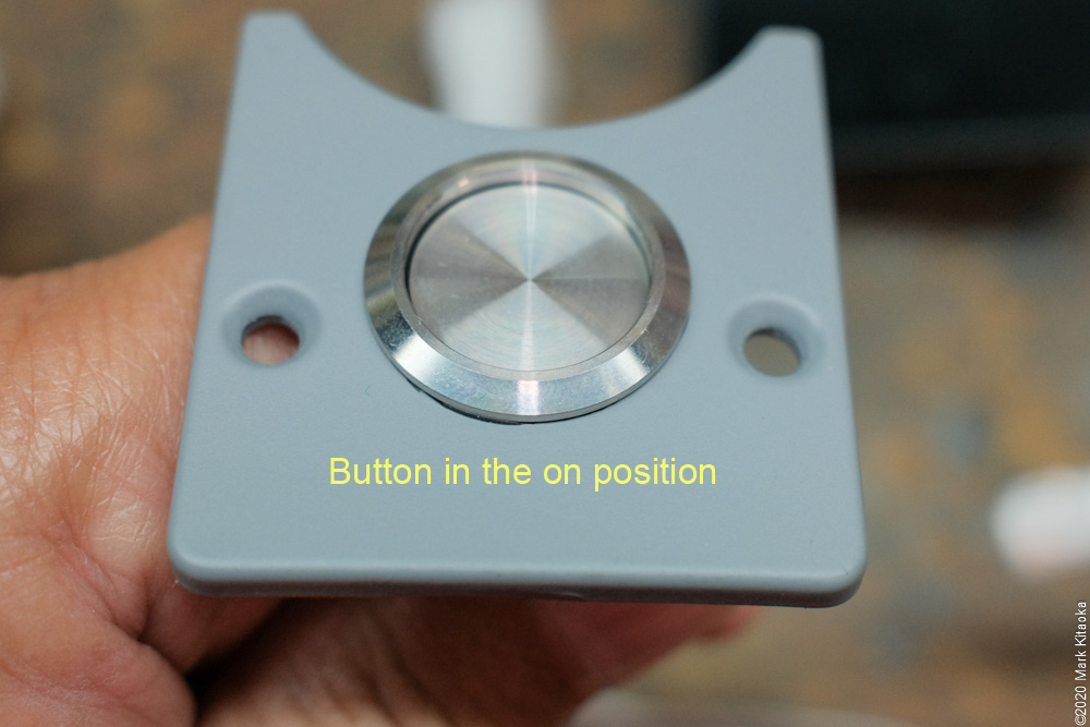 "Kalk power button in ""on"" position"