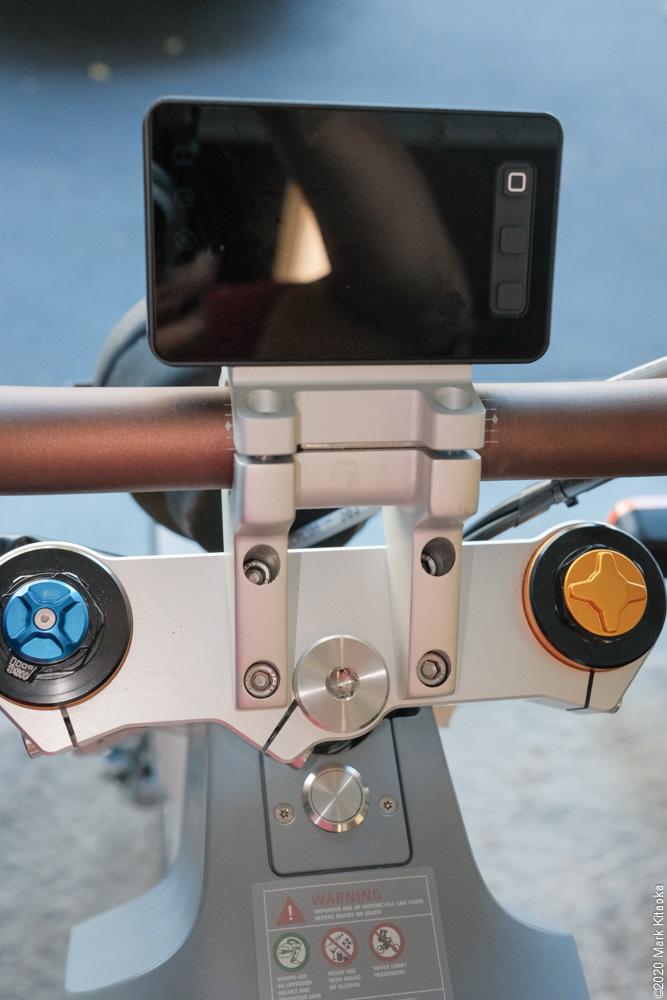New Kalk display installed on bike frame