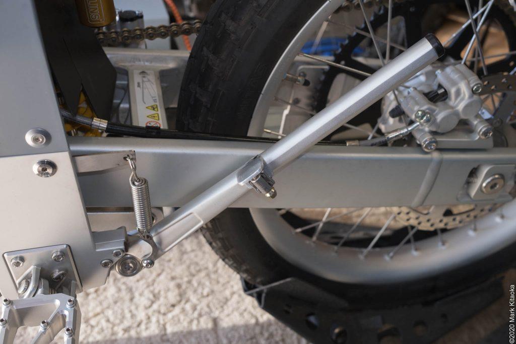DIY kickstand lever installed