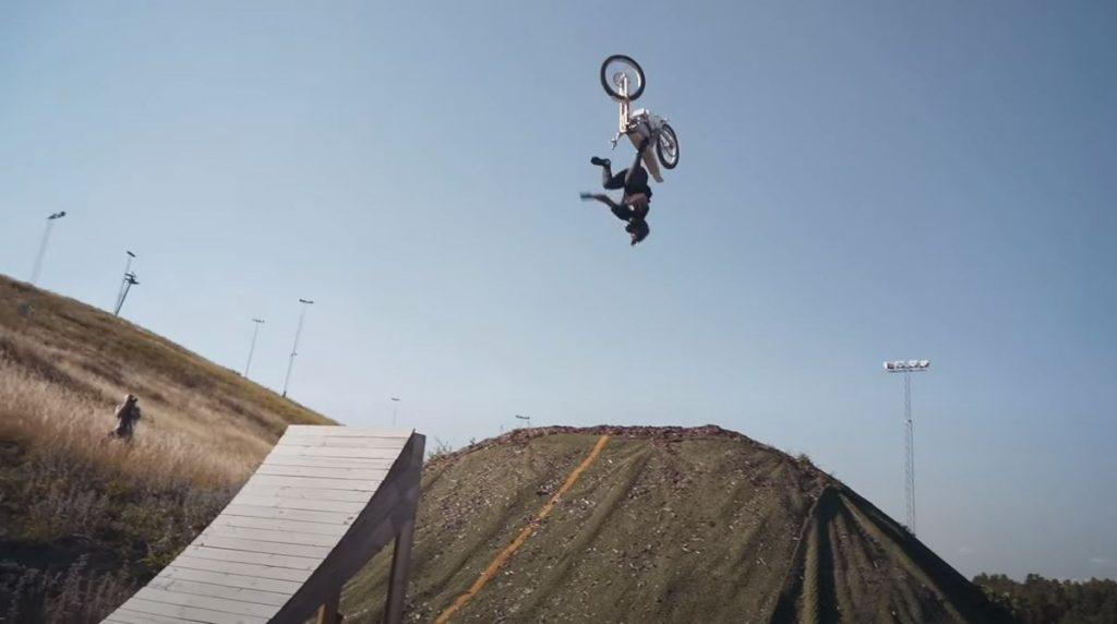 Kalk motorcycle rider doing a flip