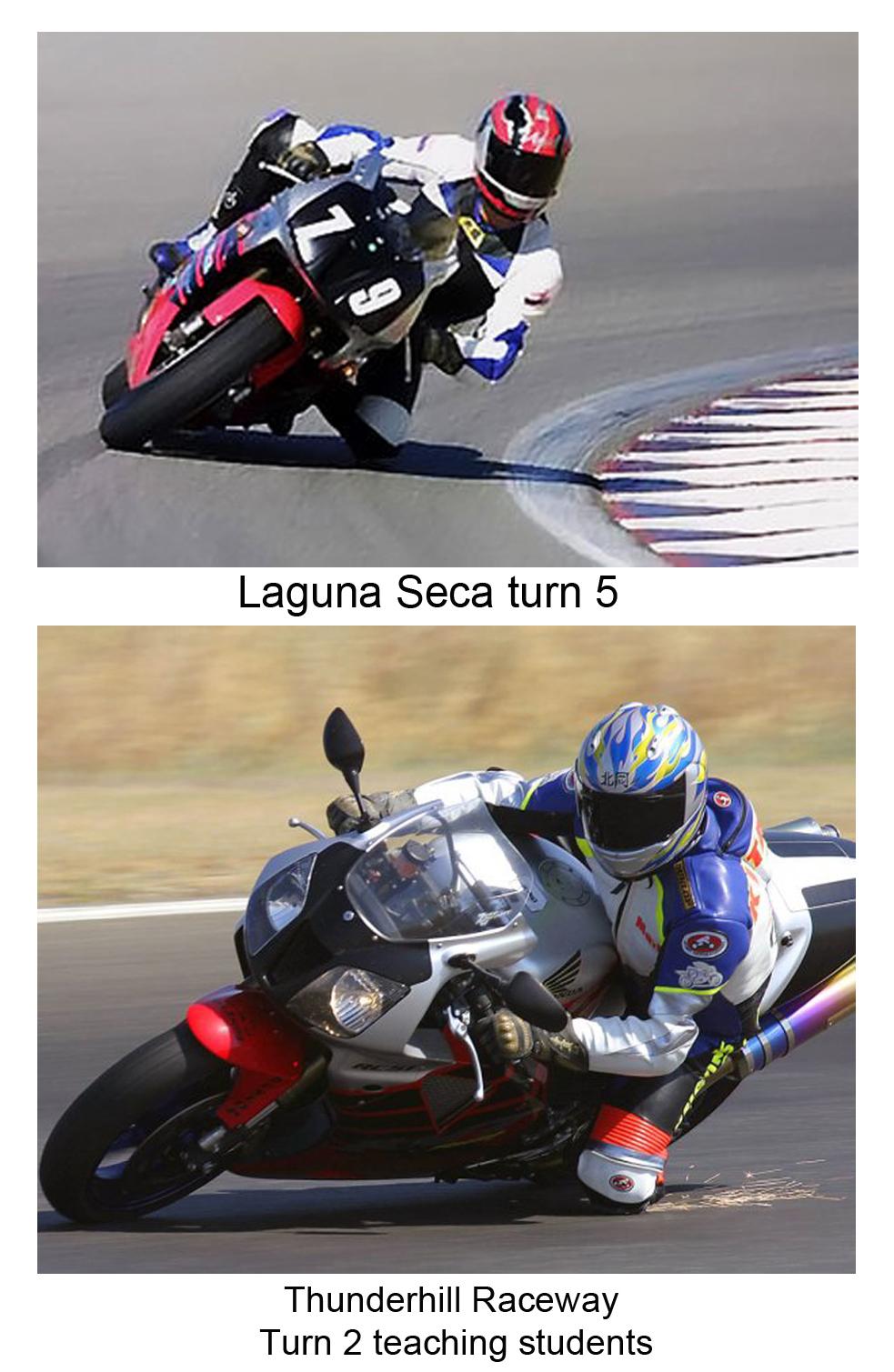 Mark Kitaoka riding on motorcycle