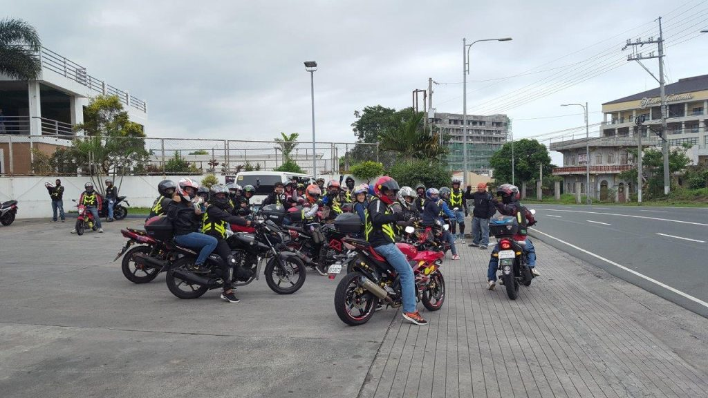 a group of bikers in Philippines