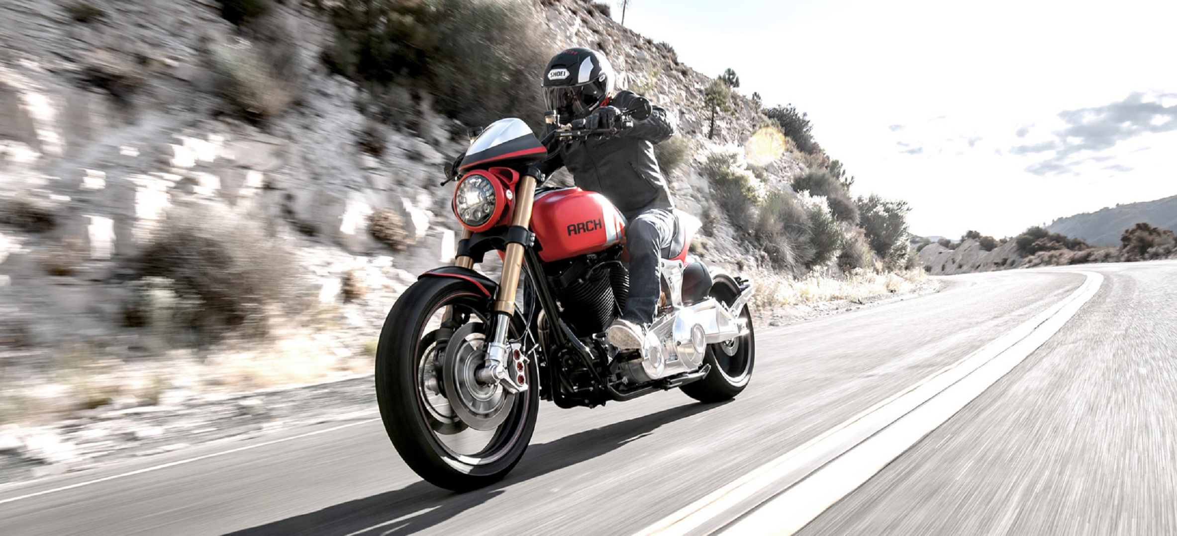 ARCH KRGT-1 riding along a highway