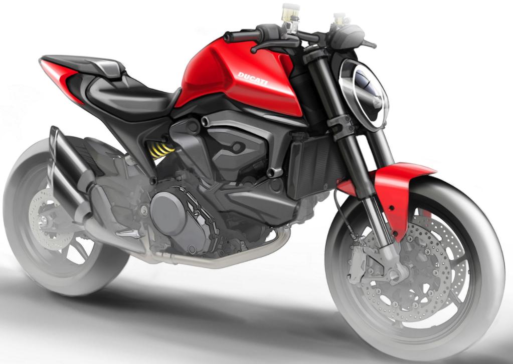 Ducati 821 sketch