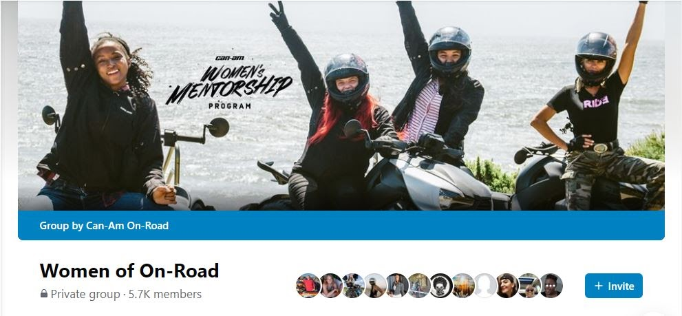 Women On-Road is a private Facebook group