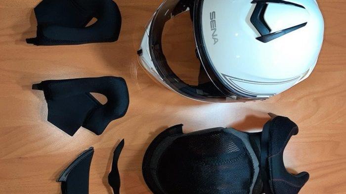 Sena Outrush Modular Helmet with removable cheekpads