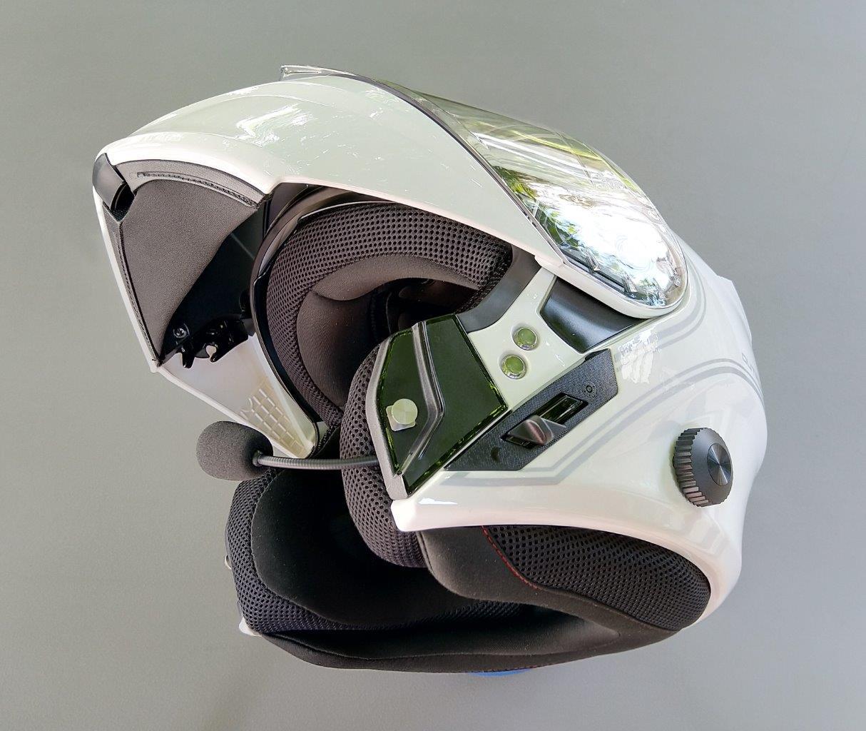 Angle view of Sena Outrush Modular Helmet