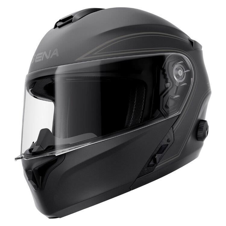 Matte black Sena Outrush Modular Helmet