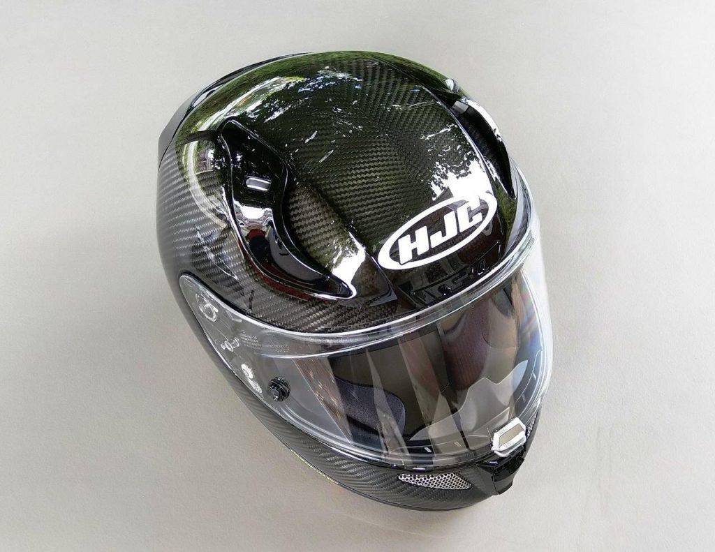 Top view of HJC RPHA 11 Pro Carbon helmet