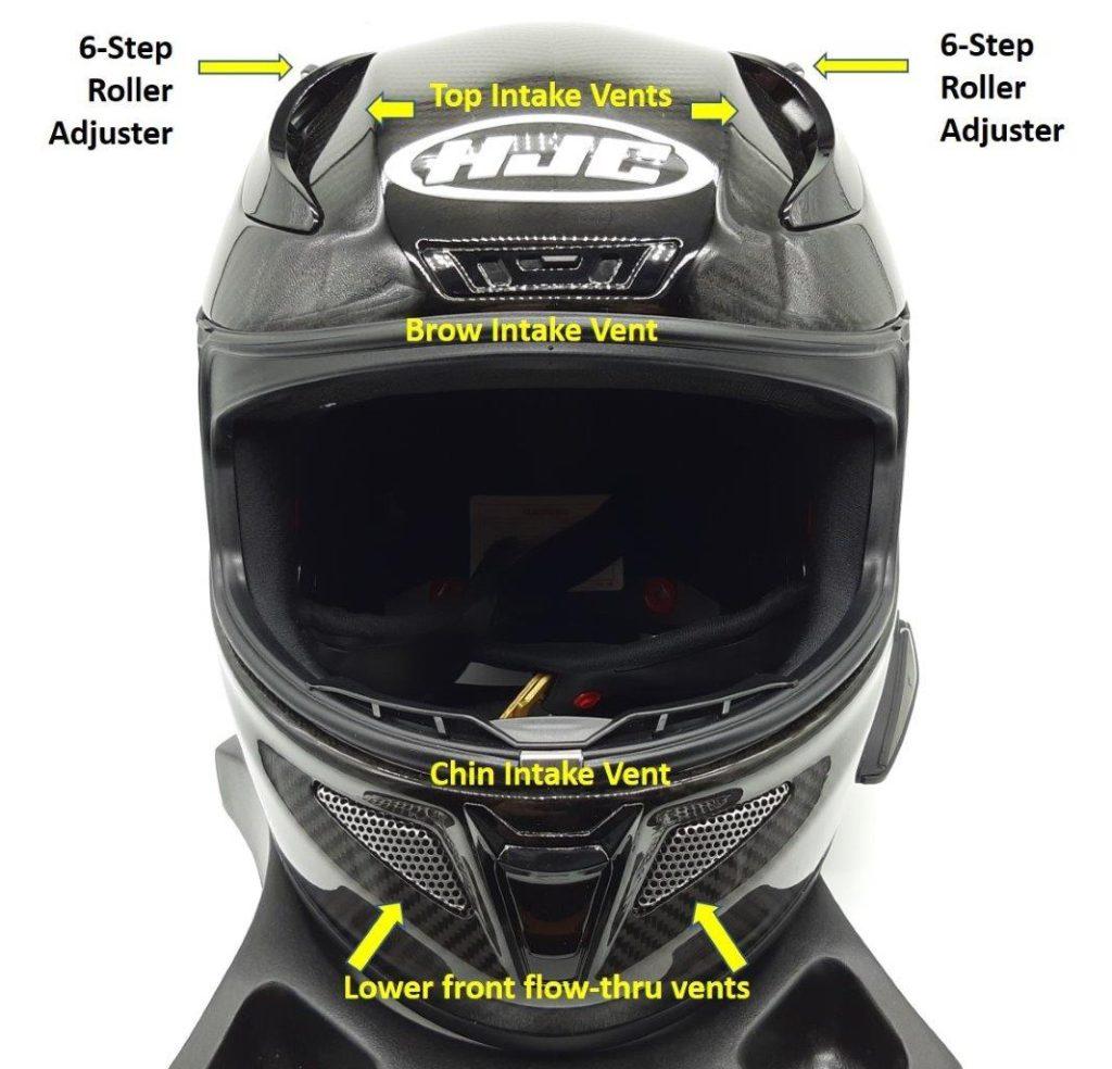 Front face view of HJC RPHA 11 Pro Carbon helmet