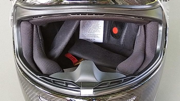 Interior front shot of HJC RPHA 11 Pro Carbon helmet